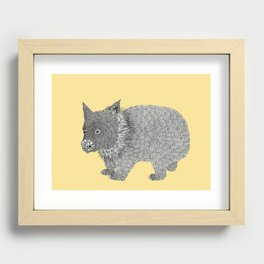 Little Wombat Recessed Framed Print
