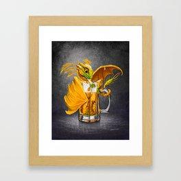 Beer Dragon Framed Art Print
