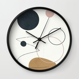Abstract Minimal Art 33 Wall Clock