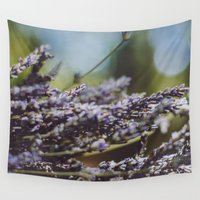 lavender Wall Tapestries featuring Lavender by THE BEARD FAIRMANS