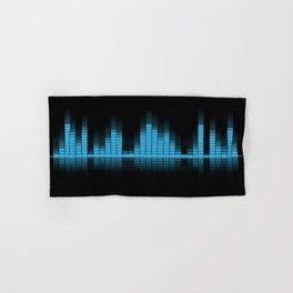 Cool Blue Graphic Equalizer Music on black Hand & Bath Towel