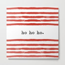 red stripes-ho ho ho Metal Print