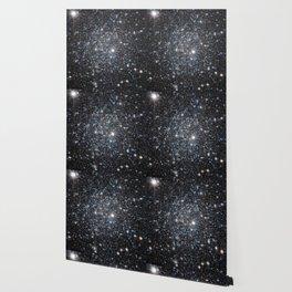 Stars : subtle black blue gold Wallpaper