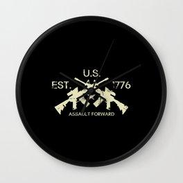 M4 Assault Rifles - U.S. Est. 1776 Wall Clock