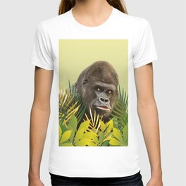 Gorilla in Jungle with Palm leaves T-shirt