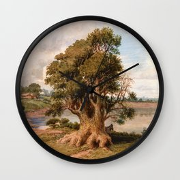 Prilidiano Pueyrredon - Landscape Of The Coast, San Isidro - Digital Remastered Edition Wall Clock
