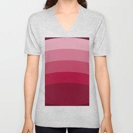 Red and Pink Ellipses Unisex V-Neck