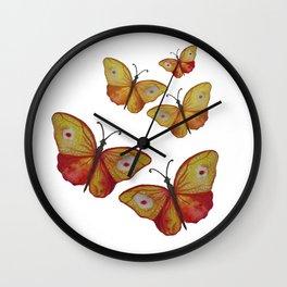 Summer Butterflies Wall Clock