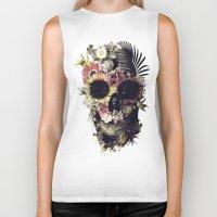 garden Biker Tanks featuring Garden Skull by Ali GULEC