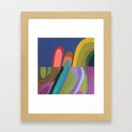 les petits chemins Framed Art Print
