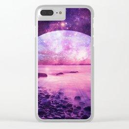 Mystic Lake Pink Purple Clear iPhone Case
