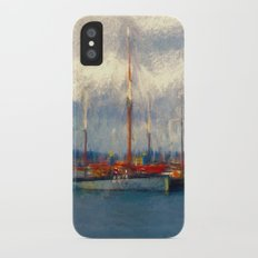 Waiting to sail iPhone X Slim Case