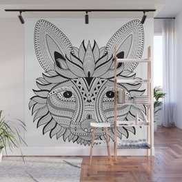 Foxy Fox Dark Wall Mural