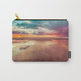 Beach Love Ocean Sunset Carry-All Pouch