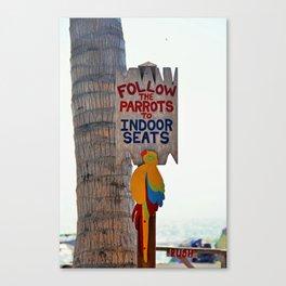 Follow the Parrots Canvas Print