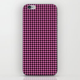 Mini Black and Pink Cowboy Buffalo Check iPhone Skin