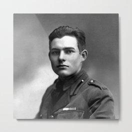 Ernest Hemingway in Uniform, 1918 Metal Print