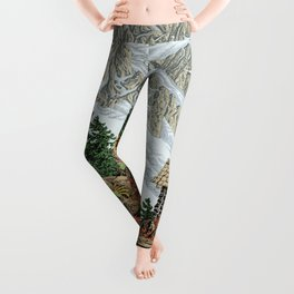 BEYOND MOUNT SHUKSAN AUTUMN COLOR VERSION Leggings
