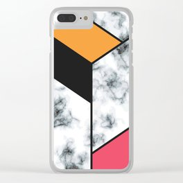 Marble & Geometry 012 Clear iPhone Case
