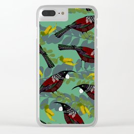 Tui Pattern Clear iPhone Case