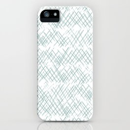 Sketched Cross Hatches in Aqua iPhone Case