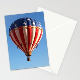 Patriotic Hot Air Balloon Stationery Cards