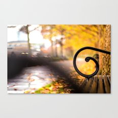 Another Bench in the Park Canvas Print