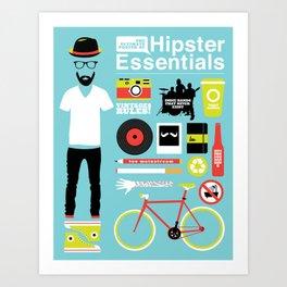 Hipster Essentials Art Print