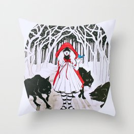 Amongst Wolves Throw Pillow