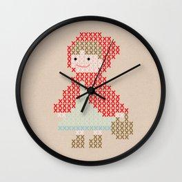 Red Riding Hood cross stitch Wall Clock