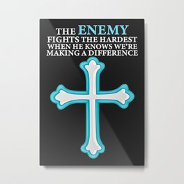 The Enemy Fights The Harde Metal Print