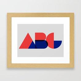 Geometric ABC Framed Art Print