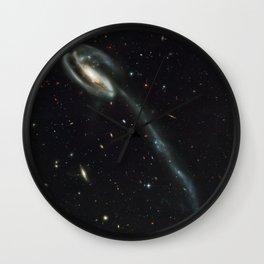 """Tadpole"" Colliding Galaxy Society6 Planet Prints Wall Clock"