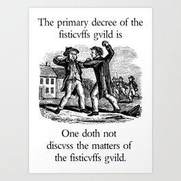 Fisticuffs Guild Art Print