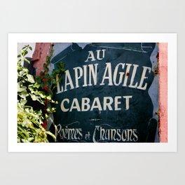 Au Lapin Agile Art Print