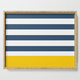 Navy and yellow stripes Serving Tray
