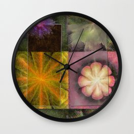 Referenced Tissue Flowers  ID:16165-142303-03261 Wall Clock