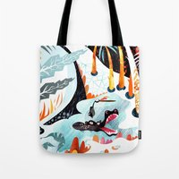 jungle Tote Bags featuring Jungle by Adelina Mehmeti