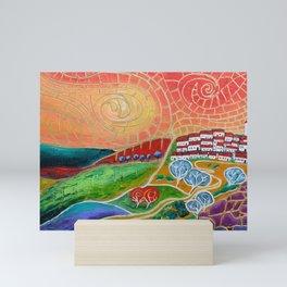 The Hilltop Village Mini Art Print