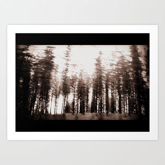spinning forest Art Print
