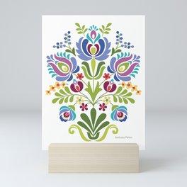 Hungarian Folk Design Violet Mini Art Print