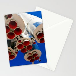Vintage Spacecraft Boosters And Blue Sky Stationery Cards