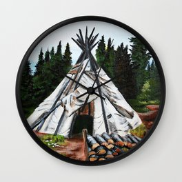 Walking Out Ceremony Teepee Wall Clock