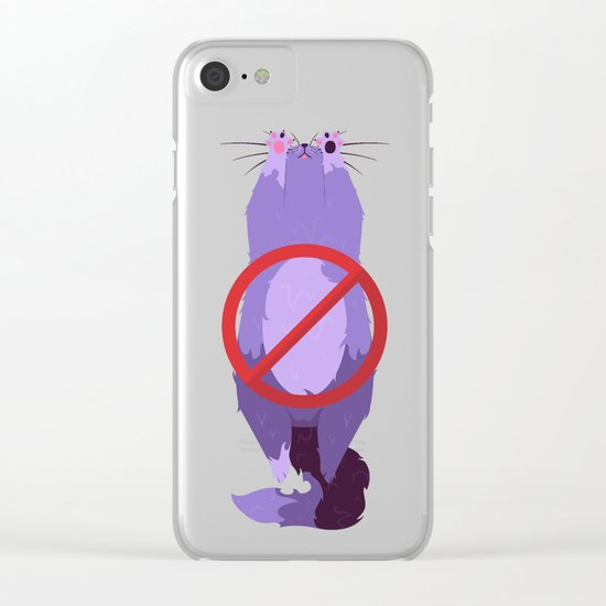 Furrbidden Zone Clear iPhone Case