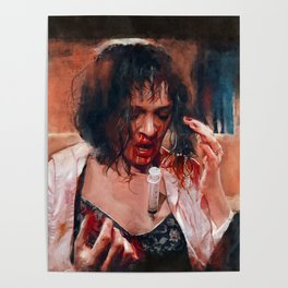 Adrenaline Shot - Mia Wallace - Pulp Fiction Poster