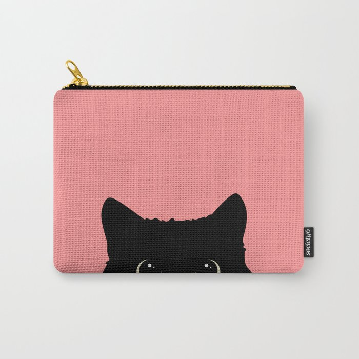 Sneaky black cat Carry-All Pouch