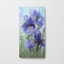 Imagine - Fantasy iris fairies Metal Print