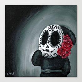Dia de Los Muertos Shy Guy Canvas Print
