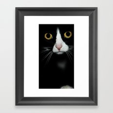just cat Framed Art Print
