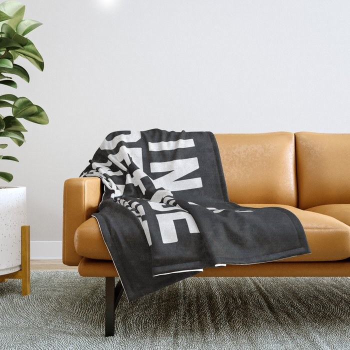Left Unsupervised Funny Quote Throw Blanket